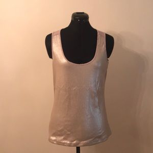 Cache sequined tank top